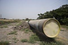 Linha gás natural da tubulação Foto de Stock