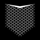 Linha geométrica étnica bordado do pescoço Vetor, ilustração foto de stock royalty free