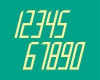 A linha geométrica projeto da fonte do efeito do estilo numera o espaço futurista Imagens de Stock Royalty Free