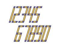 A linha geométrica projeto da fonte do efeito do estilo numera o espaço futurista Imagens de Stock