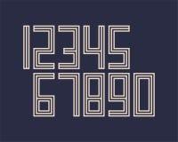 A linha geométrica projeto da fonte do efeito do estilo numera o espaço futurista Imagem de Stock Royalty Free