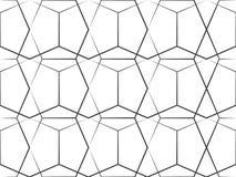 Linha geométrica teste padrão ilustração stock