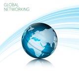 Linha global abstrata projeto do retângulo da tecnologia do conceito dos trabalhos em rede do movimento no fundo branco Foto de Stock