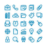 Linha gorda ícones Fotos de Stock
