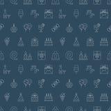 Linha grupo do aniversário do teste padrão do ícone Imagem de Stock Royalty Free
