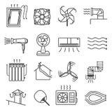 Linha grupo do fluxo de ar do ícone ilustração royalty free