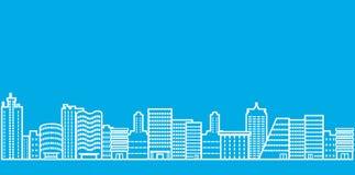 Linha ilustração da arquitetura da cidade Fotografia de Stock