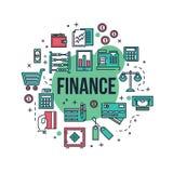 Linha ilustração da finança Fotografia de Stock Royalty Free