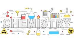 Linha ilustração da química do estilo Imagens de Stock