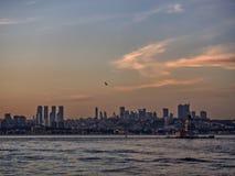 Linha Istambul do céu fotos de stock