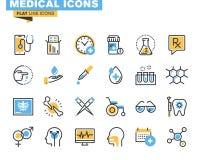 Linha lisa ícones ajustados dos subministros médicos Imagem de Stock Royalty Free