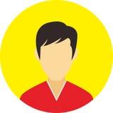 A linha lisa ícones do ícone dos povos ajustou o conceito Fotografia de Stock Royalty Free