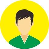 A linha lisa ícones do ícone dos povos ajustou o conceito Fotos de Stock Royalty Free