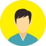 A linha lisa ícones do ícone dos povos ajustou o conceito Imagem de Stock Royalty Free