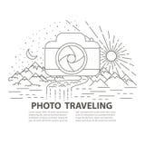 Linha lisa bandeira do curso da foto do estilo Imagens de Stock Royalty Free