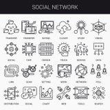 Linha lisa criativa grupo do ícone Foto de Stock
