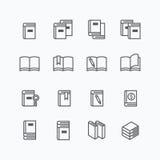 Linha lisa grupo do livro do vetor do projeto dos ícones ilustração do vetor