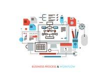 Linha lisa ilustração dos trabalhos do negócio