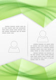 Linha lisa macia projeto do verde da brochura da cópia Foto de Stock