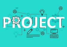 Linha lisa projeto do conceito do projeto com ícones e elementos Coleção moderna do conceito s do projeto Rotulação do conceito d ilustração do vetor