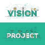 Linha lisa visão e projeto do projeto da bandeira do conceito Foto de Stock Royalty Free