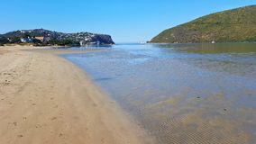 Linha litoral da costa imagens de stock