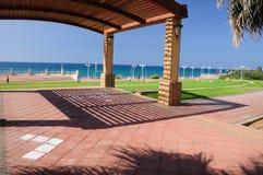 Linha litoral de Nahariya foto de stock royalty free