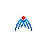 Linha logotipo da construção do negócio do vetor Fotografia de Stock