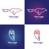 Linha logotipo do animal ilustração stock
