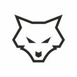 Linha logotipo do lobo da arte Fotografia de Stock Royalty Free