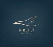 Linha logotipo do vetor do pássaro, abstrato Foto de Stock Royalty Free