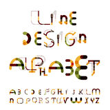 Linha mínima alfabeto do projeto, fonte, caráter tipo Imagem de Stock
