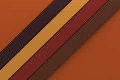 Linha mínima material da listra do projeto do fundo da cor de tom do outono Fotografia de Stock Royalty Free