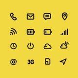Linha móvel grupo da relação e dos apps do ícone Fotografia de Stock Royalty Free