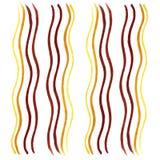 Linha marcador da onda Amarelo, Ogevan, Brown, ouro ilustração do vetor
