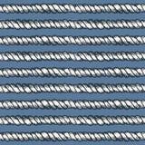 Linha marinha teste padrão sem emenda da corda Fotos de Stock