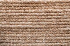 Linha marrom da corda do teste padrão da textura Fotografia de Stock