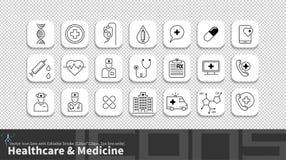 Linha moderna ícone da simplicidade ajustado com curso editável ilustração royalty free