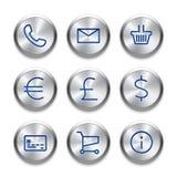 Linha moderna ícones da interface de utilizador, pixéis perfeitos Imagem de Stock