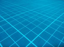 Linha moderna ascendente fechado em fundos azuis Foto de Stock Royalty Free