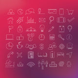 49 linha moderna grupo do ícone Foto de Stock Royalty Free