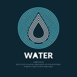 Linha moderna logotipo do vetor da gota da água ilustração royalty free
