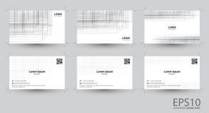 Linha namecard cinzento do sumário do fundo da cor ilustração stock