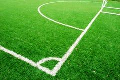 Linha no campo de futebol Fotos de Stock