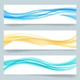Linha ondulada lisa encabeçamentos do swoosh abstrato ou Foto de Stock Royalty Free