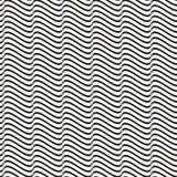 Linha ondulada sem emenda teste padrão Imagem de Stock Royalty Free