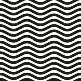 Linha ondulada teste padrão sem emenda da zebra Foto de Stock