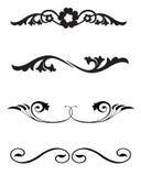 Linha ornamento da régua ilustração royalty free