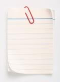 Linha papel (com trajeto de grampeamento) Fotografia de Stock