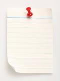 Linha papel (com trajeto de grampeamento) Fotos de Stock